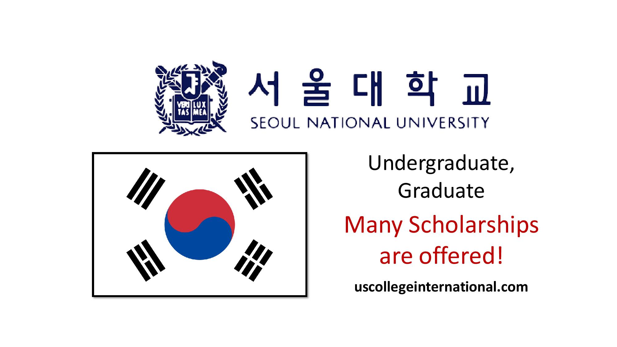 Seoul National University Scholarships 2019 (Fully Funded