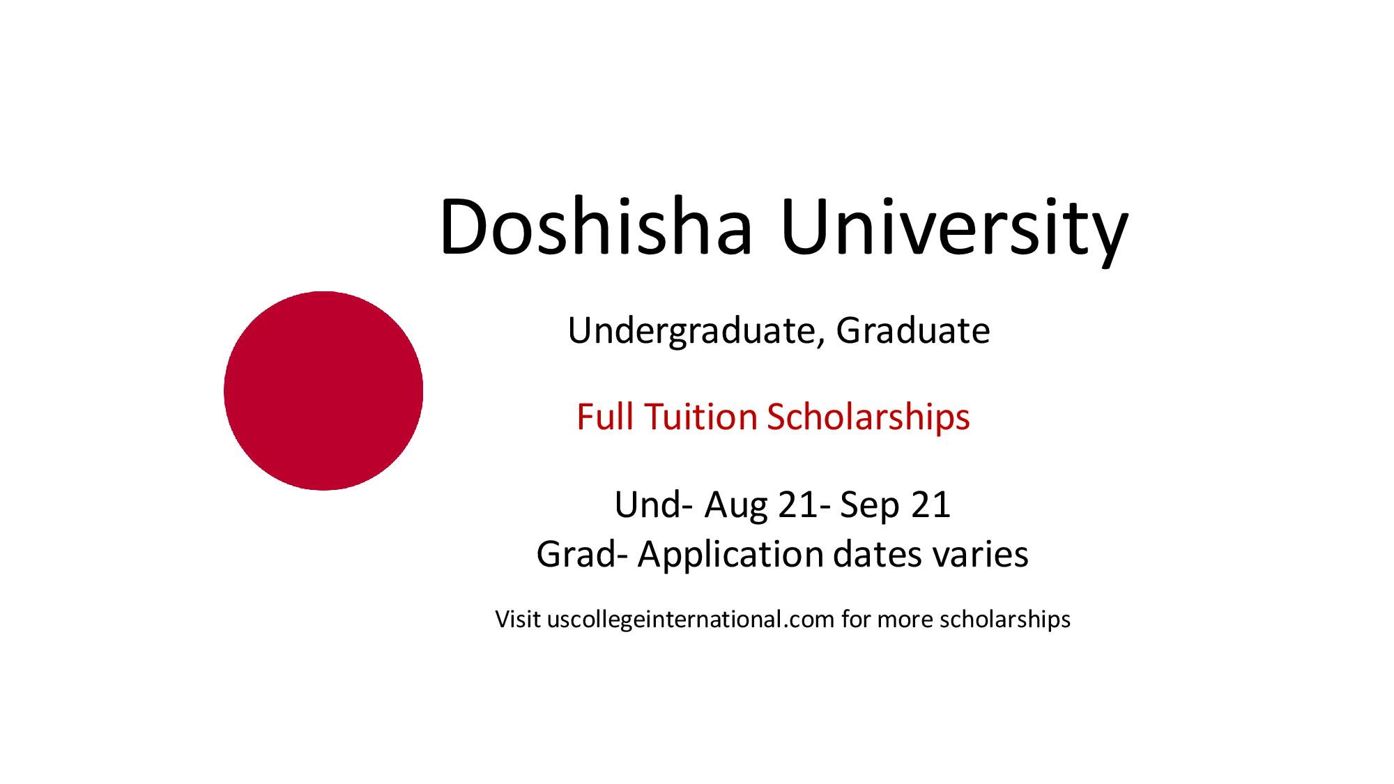 Doshisha University Scholarships