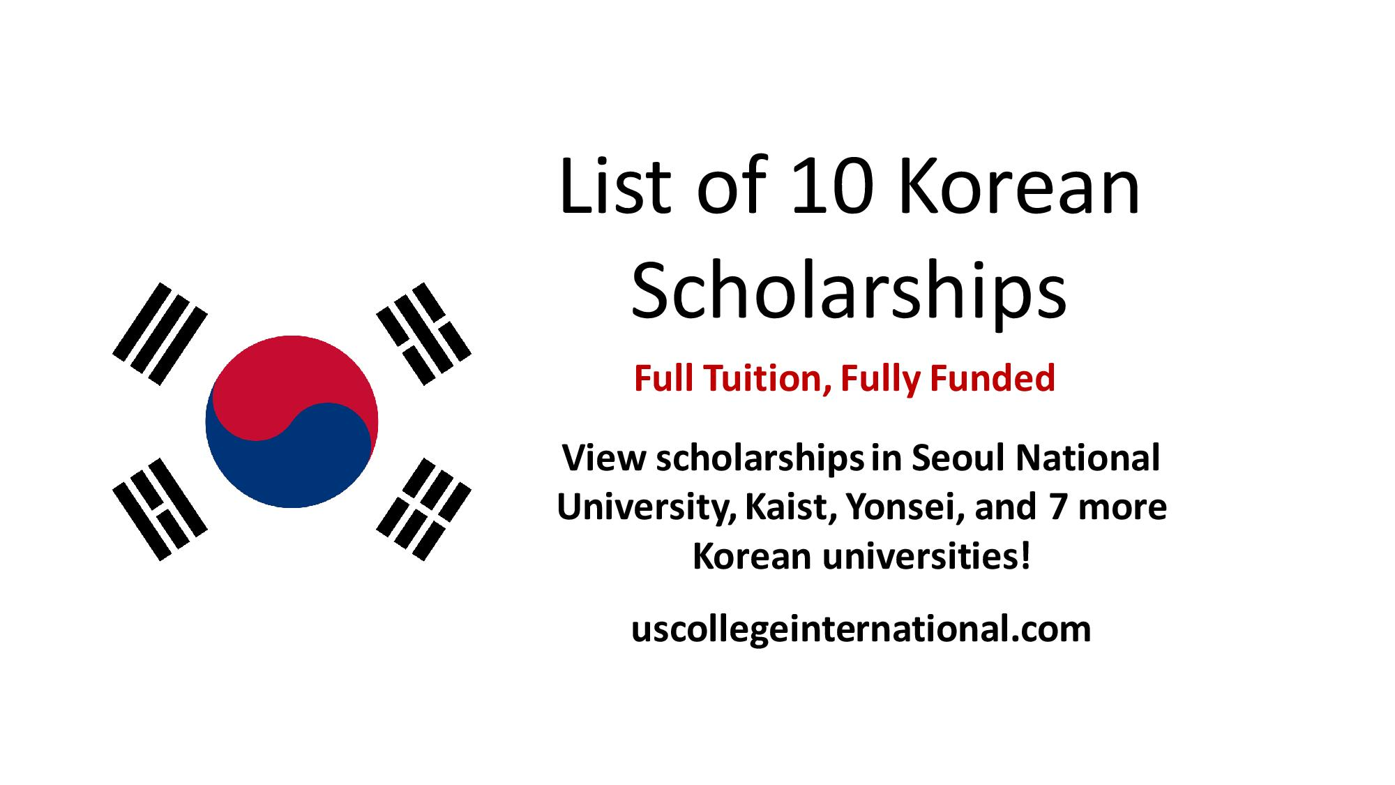 korean scholarships