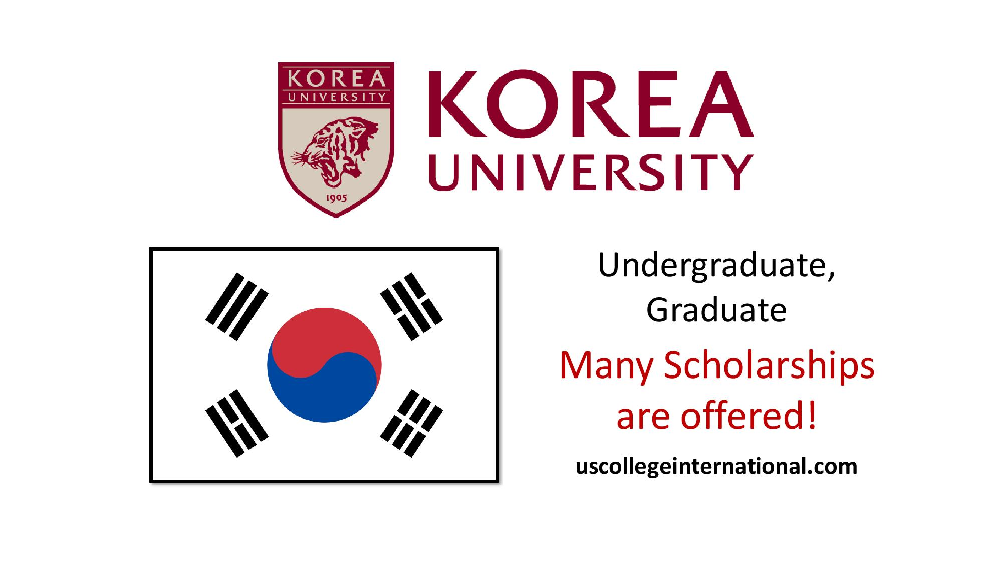 Korea University Scholarships