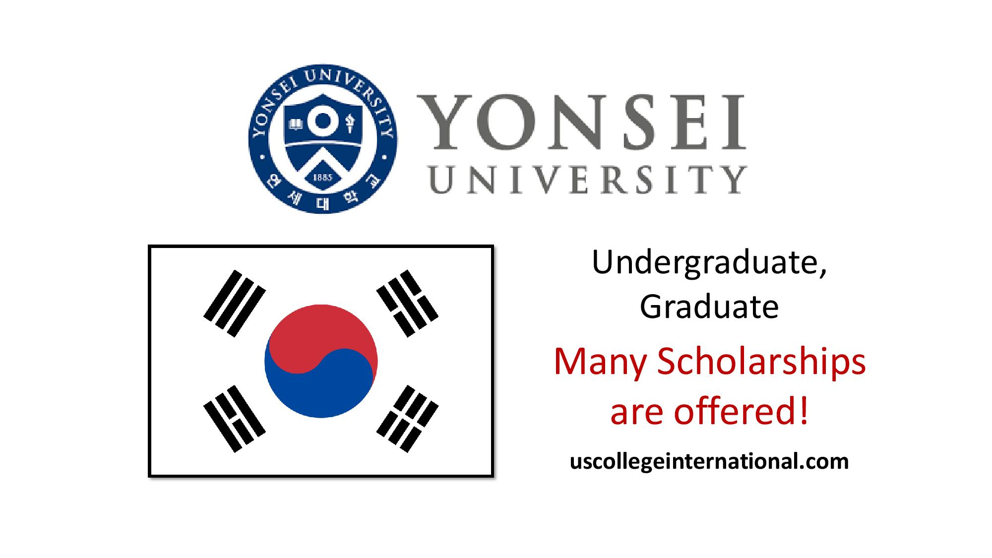 Yonsei University scholarships