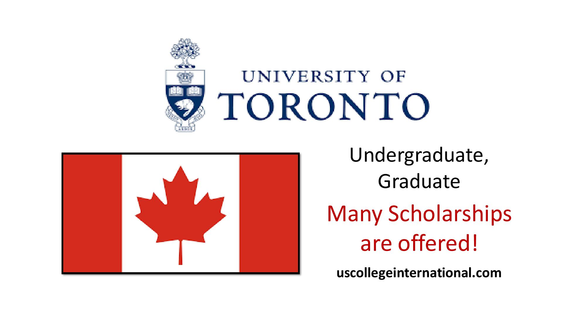 University of Toronto Scholarships 2019 (Fully Funded