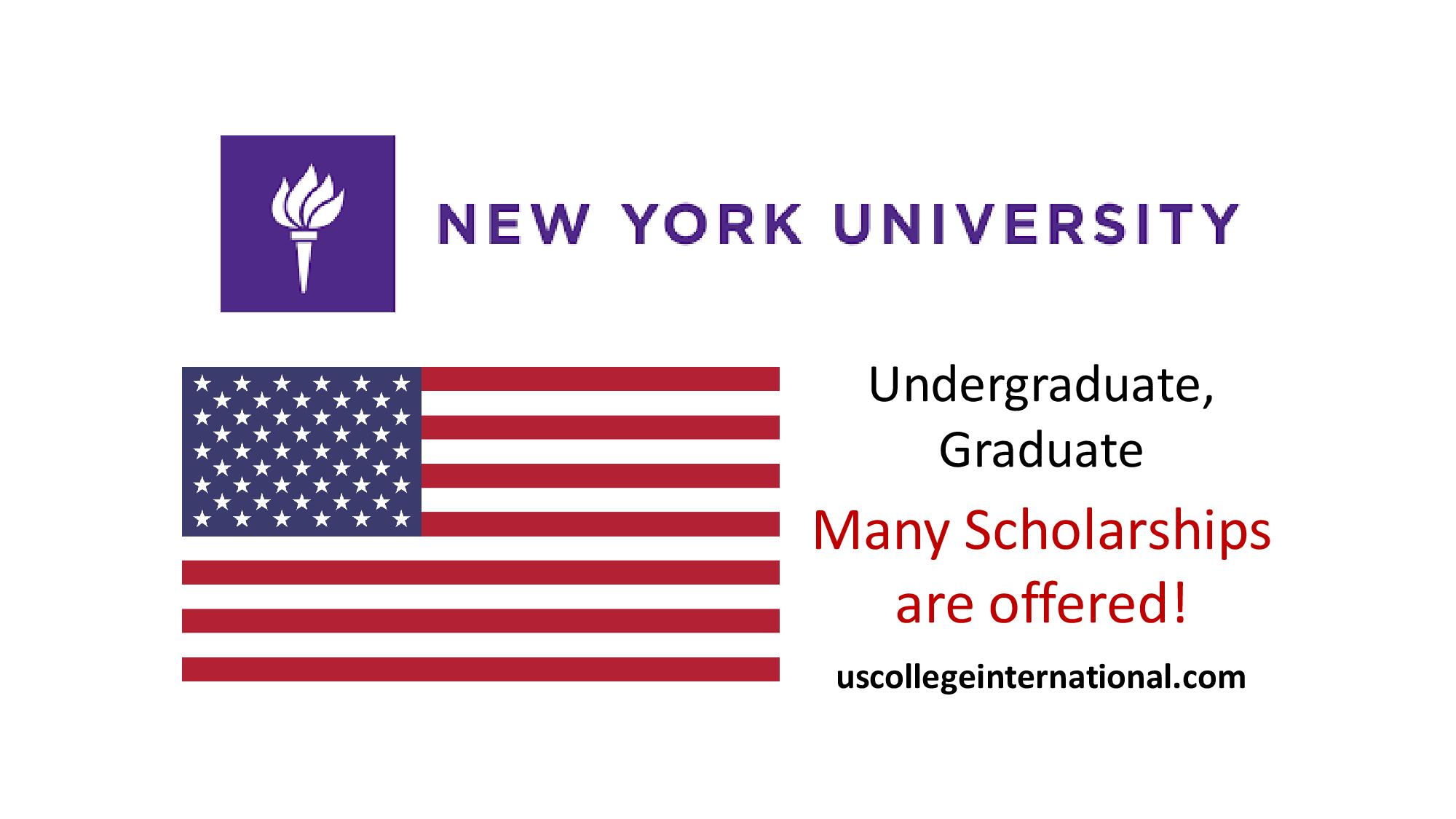 New York University Scholarships 2018 - Global ...