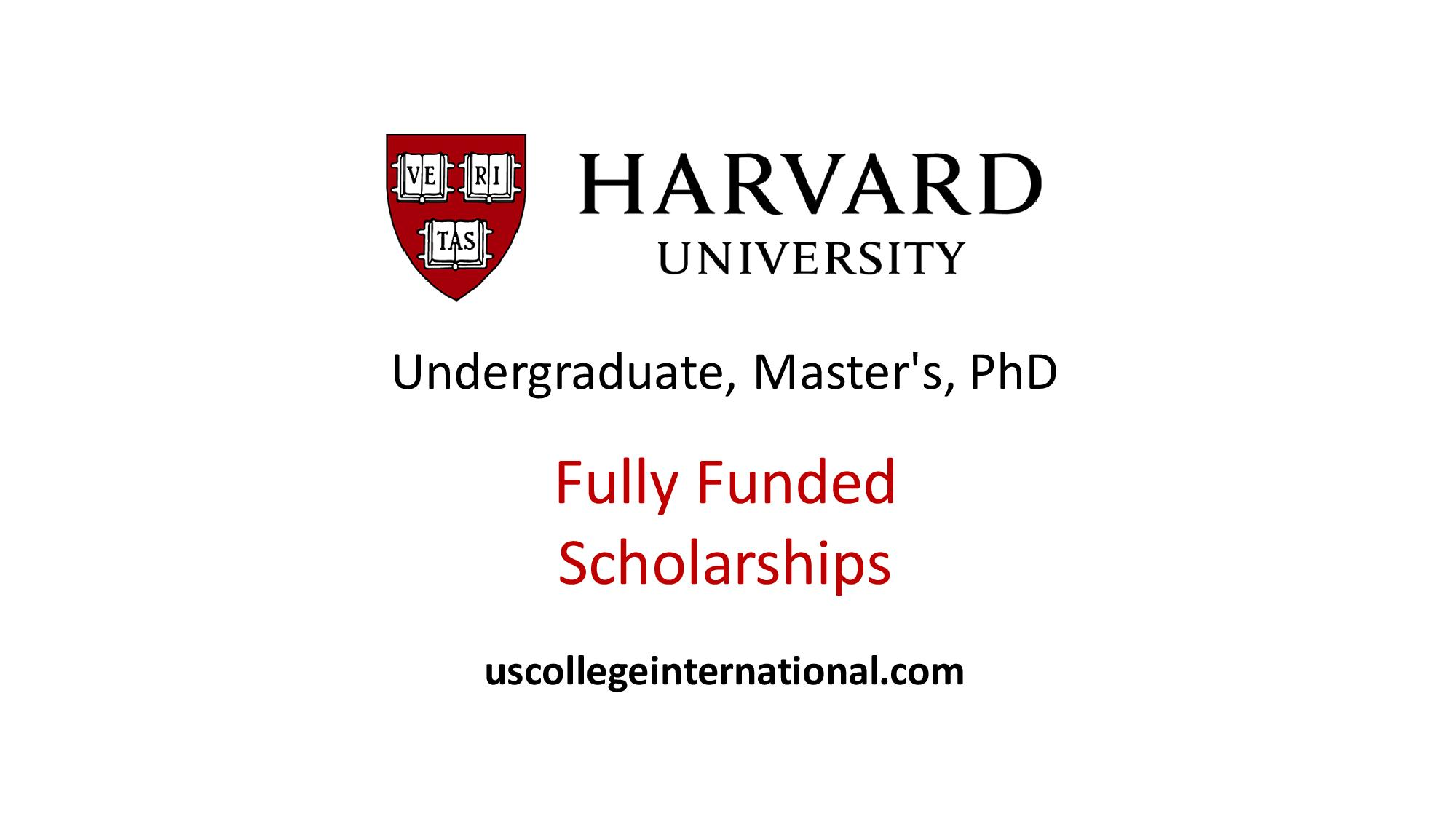 Harvard University Scholarships 2019 (Fully Funded) - Scholarships