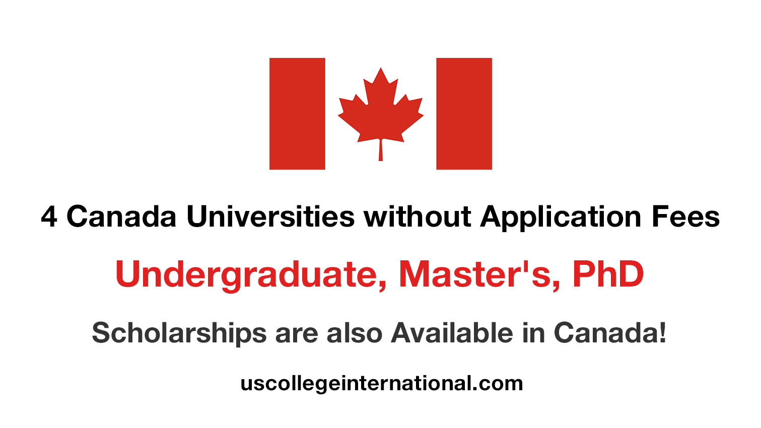 Canada Universities without Application Fees