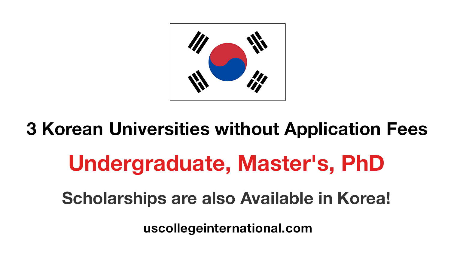 Korean Universities without Application Fees