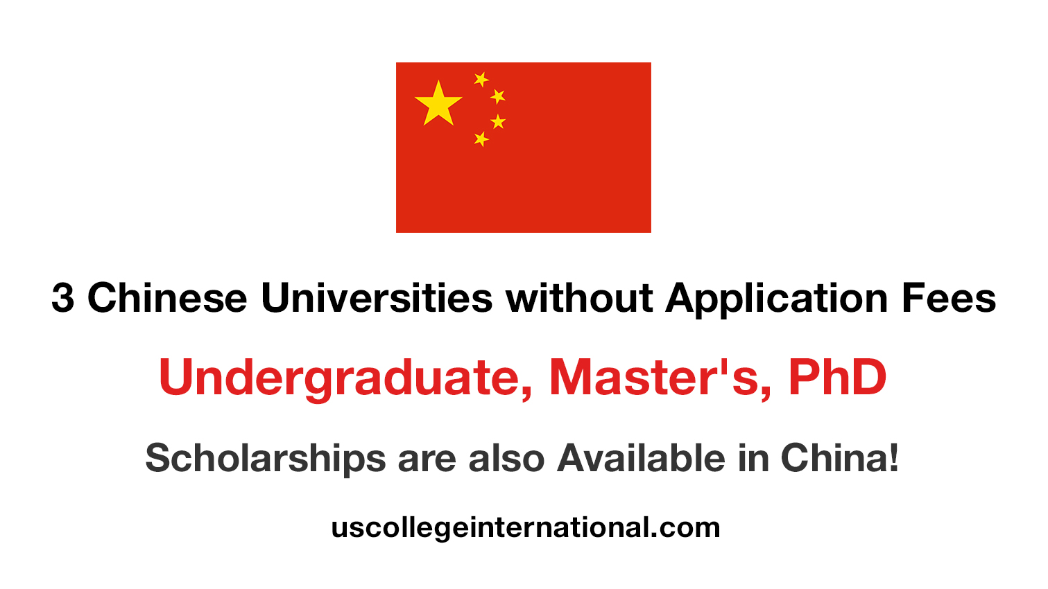 Chinese Universities without Application Fees