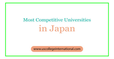 Most competitive universities Japan