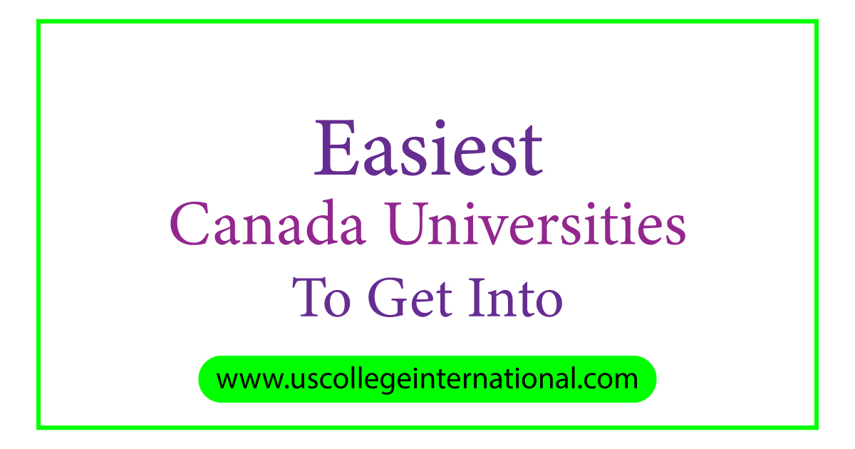 universities in canada with highest acceptance rates